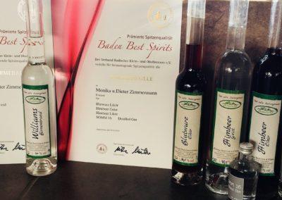 Prämierung Baden Best Spirits 2018