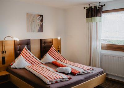 Schlafzimmer in der Fewo Kandelblick