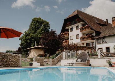 Schwimmbad, Pool auf dem Stabhalterhof in Freiamt